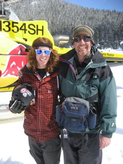 Gold Medalist Shaun White with Mountain Video Productions' Andy Krueger